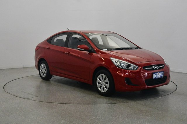 Used Hyundai Accent RB2 MY15 Active, 2015 Hyundai Accent RB2 MY15 Active Red 4 Speed Sports Automatic Sedan