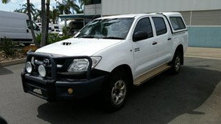 2011 Toyota Hilux KUN26R MY10 SR White 4 Speed Automatic Utility.