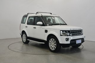 2014 Land Rover Discovery Series 4 L319 MY15 TDV6 White 8 Speed Sports Automatic Wagon