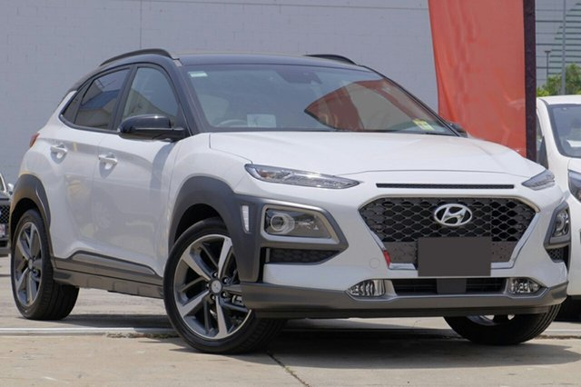 New Hyundai Kona OS.2 MY19 Highlander D-CT AWD, 2018 Hyundai Kona OS.2 MY19 Highlander D-CT AWD Chalk White & Phantom Black Roof 7 Speed