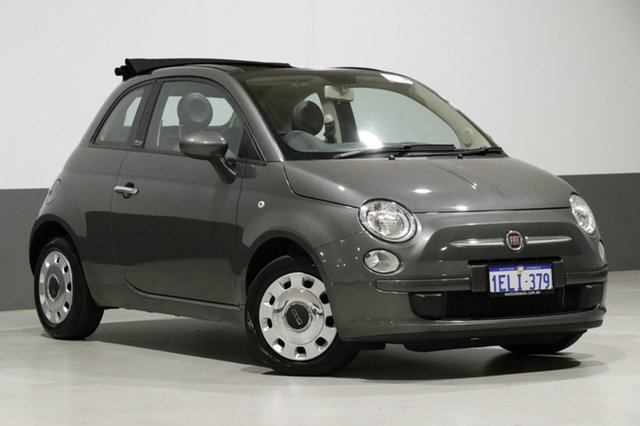 Used Fiat 500 MY13 POP, 2013 Fiat 500 MY13 POP Grey 5 Speed Automatic Convertible
