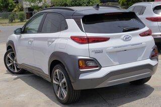 2018 Hyundai Kona OS.2 MY19 Highlander D-CT AWD Chalk White & Phantom Black Roof 7 Speed.