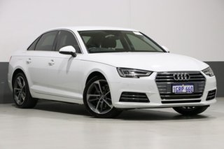 2017 Audi A4 F4 MY17 (B9) 2.0 TFSI S Tronic Sport White 7 Speed Auto Dual Clutch Sedan.