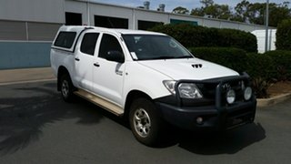 2011 Toyota Hilux KUN26R MY10 SR White 4 Speed Automatic Utility