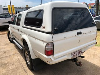 2005 Mitsubishi Triton MK MY05.5 GLX-R Double Cab White 5 Speed Manual Utility