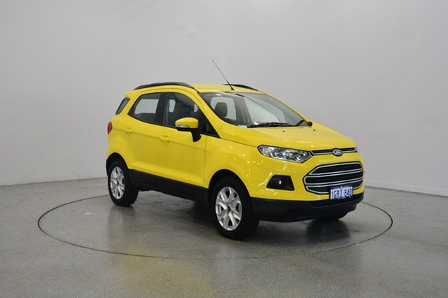 Used Ford Ecosport BK Trend PwrShift, 2017 Ford Ecosport BK Trend PwrShift Bright Yellow 6 Speed Sports Automatic Dual Clutch Wagon