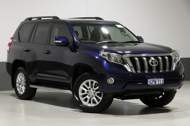Used Toyota Landcruiser Prado GRJ150R MY14 VX (4x4), 2014 Toyota Landcruiser Prado GRJ150R MY14 VX (4x4) Blue 5 Speed Sequential Auto Wagon