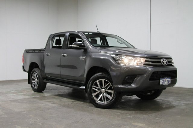 Used Toyota Hilux GUN126R SR Double Cab, 2016 Toyota Hilux GUN126R SR Double Cab Grey 6 Speed Sports Automatic Cab Chassis