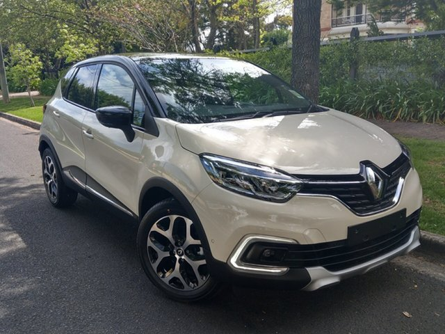 New Renault Captur J87 Intens EDC, 2018 Renault Captur J87 Intens EDC Pearl White & Diamond Black 6 Speed Sports Automatic Dual Clutch