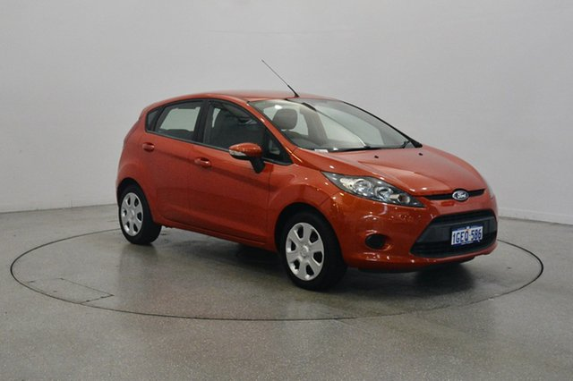 Used Ford Fiesta WT CL PwrShift, 2012 Ford Fiesta WT CL PwrShift Orange 6 Speed Sports Automatic Dual Clutch Hatchback