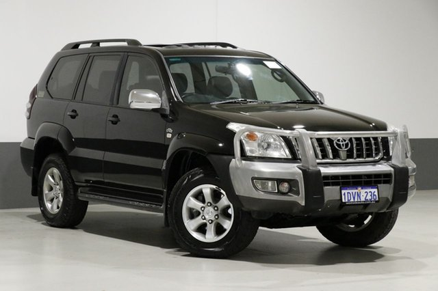 Used Toyota Landcruiser Prado KDJ120R 07 Upgrade Grande (4x4), 2007 Toyota Landcruiser Prado KDJ120R 07 Upgrade Grande (4x4) Black 5 Speed Automatic Wagon