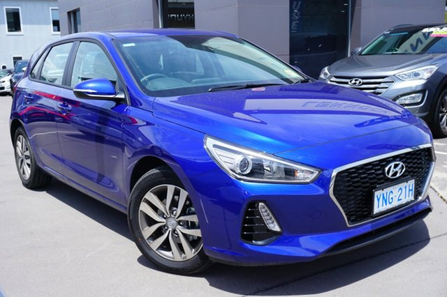Demo Hyundai i30 PD2 MY18 Active, 2018 Hyundai i30 PD2 MY18 Active Intense Blue 6 Speed Sports Automatic Hatchback
