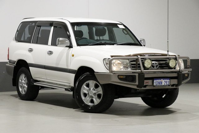 Used Toyota Landcruiser UZJ100R Upgrade II GXL (4x4), 2006 Toyota Landcruiser UZJ100R Upgrade II GXL (4x4) White 5 Speed Automatic Wagon