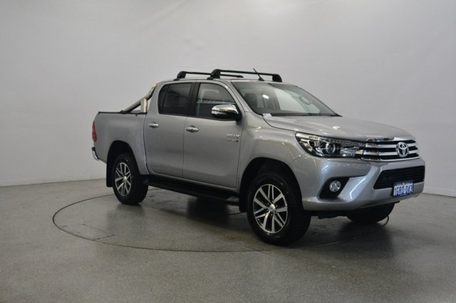 Used Toyota Hilux GUN126R SR5 Double Cab, 2015 Toyota Hilux GUN126R SR5 Double Cab Silver 6 Speed Sports Automatic Utility
