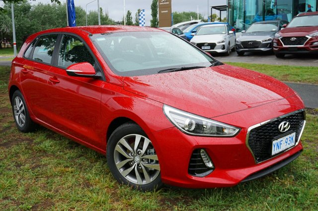 Demo Hyundai i30 PD2 MY18 Active, 2018 Hyundai i30 PD2 MY18 Active Fiery Red 6 Speed Manual Hatchback
