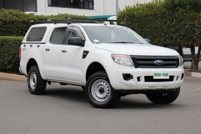 Used Ford Ranger PX XL Double Cab, 2011 Ford Ranger PX XL Double Cab Cool White 6 Speed Manual Utility