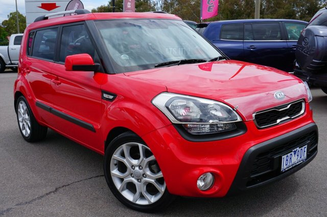 Used Kia Soul AM MY12 +, 2012 Kia Soul AM MY12 + Red 6 Speed Automatic Hatchback
