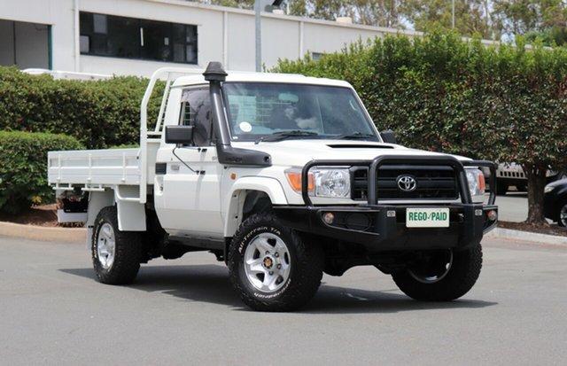 Used Toyota Landcruiser VDJ79R GX, 2016 Toyota Landcruiser VDJ79R GX French Vanilla 5 Speed Manual Cab Chassis