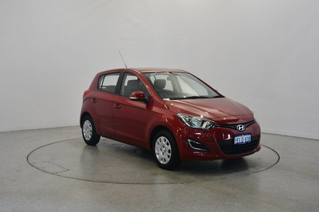 Used Hyundai i20 PB MY14 Active, 2014 Hyundai i20 PB MY14 Active Red Passion 4 Speed Automatic Hatchback