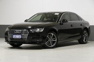 2017 Audi A4 F4 MY17 (B9) 2.0 TFSI S Tronic Sport Black 7 Speed Auto Dual Clutch Sedan.
