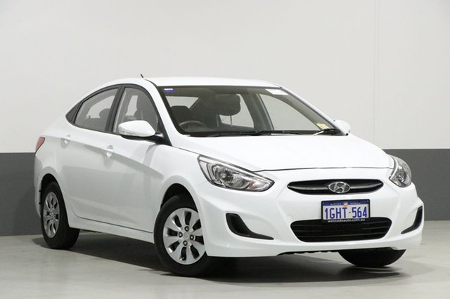 Used Hyundai Accent RB4 MY17 Active, 2017 Hyundai Accent RB4 MY17 Active White 6 Speed CVT Auto Sequential Sedan