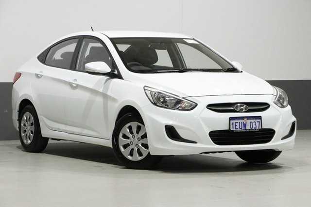 Used Hyundai Accent RB2 Active, 2015 Hyundai Accent RB2 Active White 4 Speed Automatic Sedan