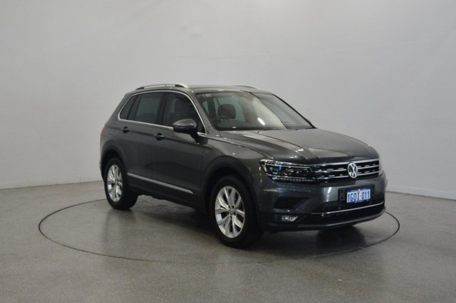 Used Volkswagen Tiguan 5N MY18 140TDI DSG 4MOTION Highline, 2018 Volkswagen Tiguan 5N MY18 140TDI DSG 4MOTION Highline Indium Grey 7 Speed