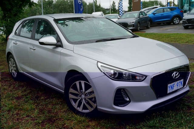 Demo Hyundai i30 PD MY18 Active D-CT, 2018 Hyundai i30 PD MY18 Active D-CT Platinum Silver 7 Speed Sports Automatic Dual Clutch Hatchback