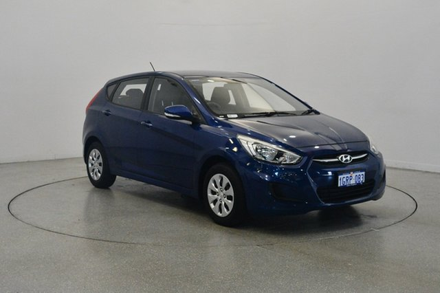 Used Hyundai Accent RB2 MY15 Active, 2015 Hyundai Accent RB2 MY15 Active Dazzling Blue 6 Speed Manual Hatchback