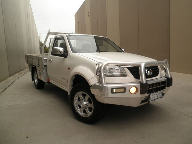 Used Great Wall V200 K2 MY12 , 2012 Great Wall V200 K2 MY12 White 6 Speed Manual Cab Chassis