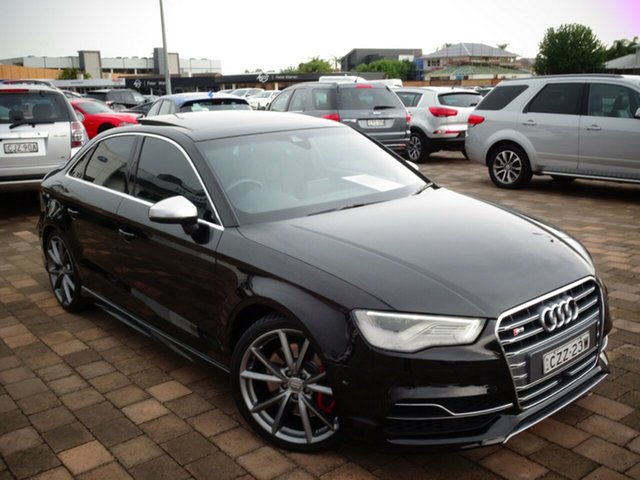 Used Audi S3 8V MY14 S tronic quattro, 2014 Audi S3 8V MY14 S tronic quattro Black 6 Speed Sports Automatic Dual Clutch Sedan