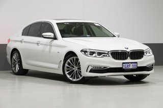 2017 BMW 530i G30 MY17 Luxury Line White 8 Speed Automatic Sedan.