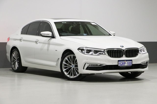 Used BMW 530i G30 MY17 Luxury Line, 2017 BMW 530i G30 MY17 Luxury Line White 8 Speed Automatic Sedan