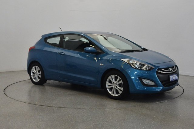 Used Hyundai i30 GD SE Coupe, 2013 Hyundai i30 GD SE Coupe Blue 6 Speed Manual Hatchback