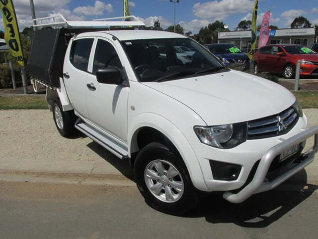 Used Mitsubishi Triton MN MY14 GLX Double Cab, 2013 Mitsubishi Triton MN MY14 GLX Double Cab White 4 Speed Sports Automatic Utility