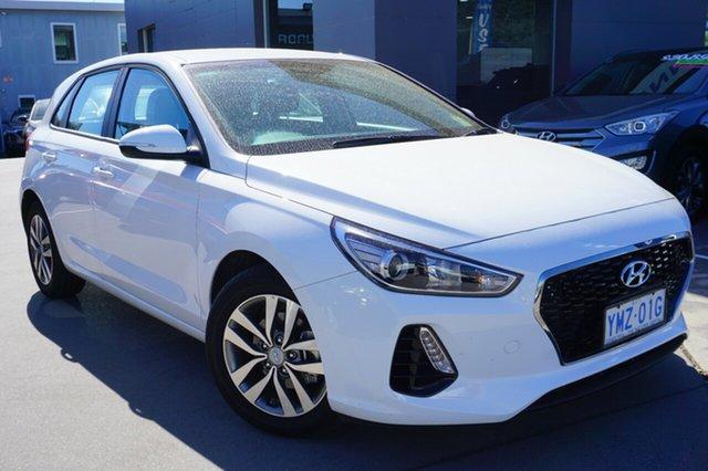 Demo Hyundai i30 PD MY18 Active, 2018 Hyundai i30 PD MY18 Active Polar White 6 Speed Sports Automatic Hatchback