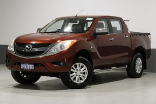 2012 Mazda BT-50 GT (4x4) Red 6 Speed Automatic Dual Cab Utility.