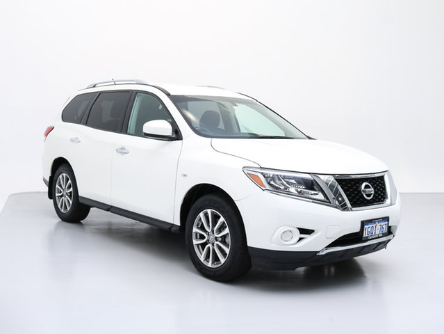 Used Nissan Pathfinder R52 ST (4x4), 2014 Nissan Pathfinder R52 ST (4x4) White Continuous Variable Wagon