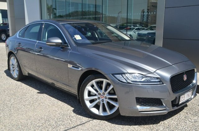 Demo Jaguar XF X260 Portfolio, 2016 Jaguar XF X260 Portfolio Ammonite Grey 8 Speed Automatic Sedan