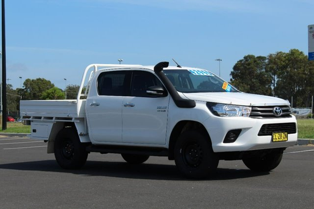 Used Toyota Hilux  SR, Used GUN126R SR Cab Chassis Double Cab 4dr Spts Auto 6sp 4x4 1045kg 2.8DT