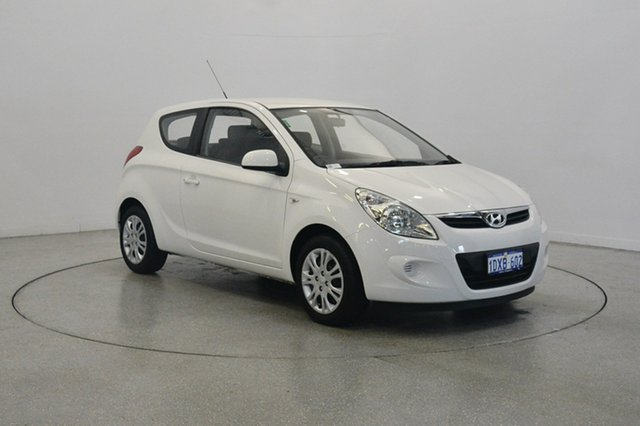 Used Hyundai i20 PB MY12 Active, 2012 Hyundai i20 PB MY12 Active White 4 Speed Automatic Hatchback