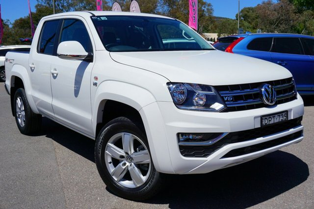 Used Volkswagen Amarok 2H MY18 TDI550 4MOTION Perm Sportline, 2017 Volkswagen Amarok 2H MY18 TDI550 4MOTION Perm Sportline White 8 Speed Automatic Utility