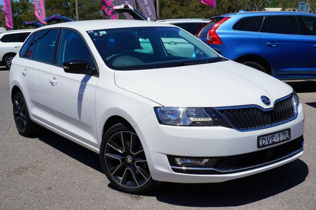 Used Skoda Rapid NH MY18.5 Spaceback DSG, 2018 Skoda Rapid NH MY18.5 Spaceback DSG White 7 Speed Sports Automatic Dual Clutch Hatchback