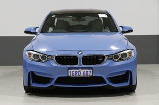 2015 BMW M3 F80 MY15 Yas Marina Blue 7 Speed Auto Dual Clutch Sedan.