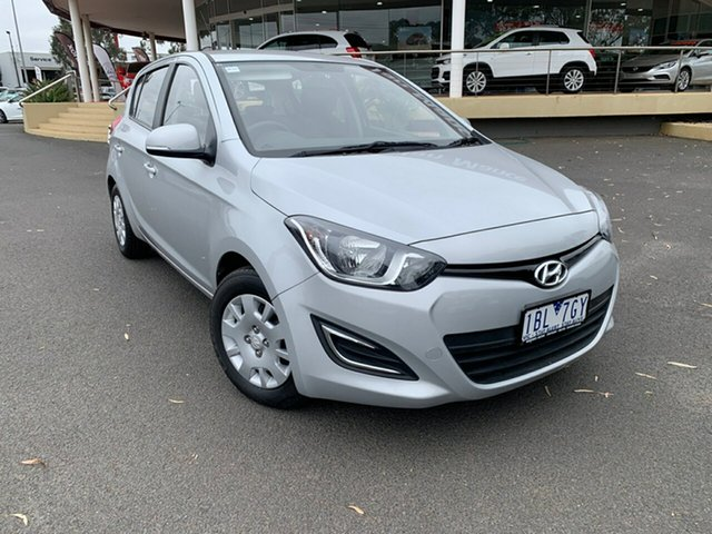 Used Hyundai i20 PB MY14 Active, 2013 Hyundai i20 PB MY14 Active Silver 4 Speed Automatic Hatchback