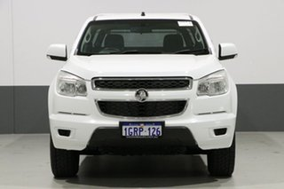 2012 Holden Colorado RG LX (4x4) White 6 Speed Automatic Cab Chassis.