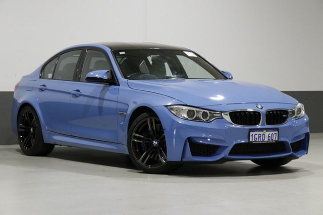 Used BMW M3 F80 MY15 , 2015 BMW M3 F80 MY15 Yas Marina Blue 7 Speed Auto Dual Clutch Sedan