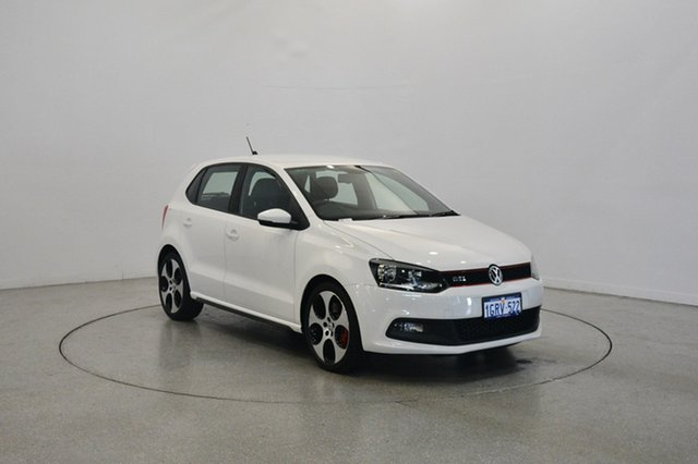Used Volkswagen Polo 6R MY14 GTI DSG, 2014 Volkswagen Polo 6R MY14 GTI DSG Candy White 7 Speed Sports Automatic Dual Clutch Hatchback