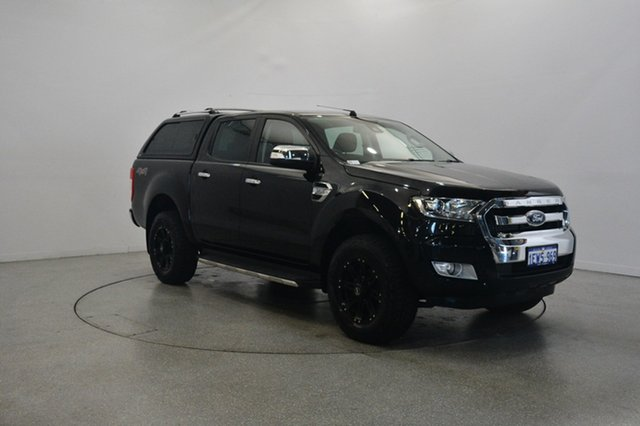 Used Ford Ranger PX MkII XLT Double Cab, 2015 Ford Ranger PX MkII XLT Double Cab Black 6 Speed Sports Automatic Utility