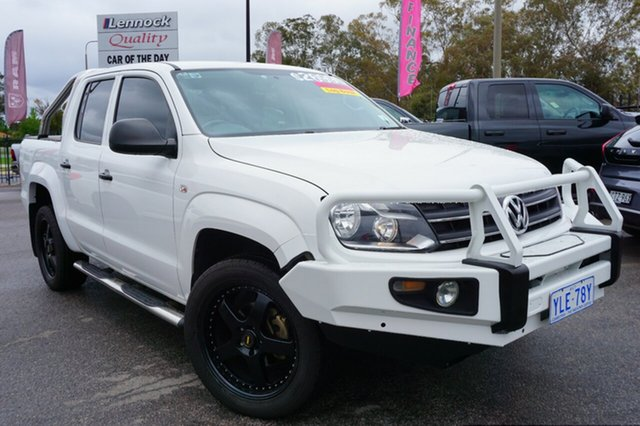 Used Volkswagen Amarok 2H MY14 TDI420 4Motion Perm Trendline, 2014 Volkswagen Amarok 2H MY14 TDI420 4Motion Perm Trendline Candy White 8 Speed Automatic Utility